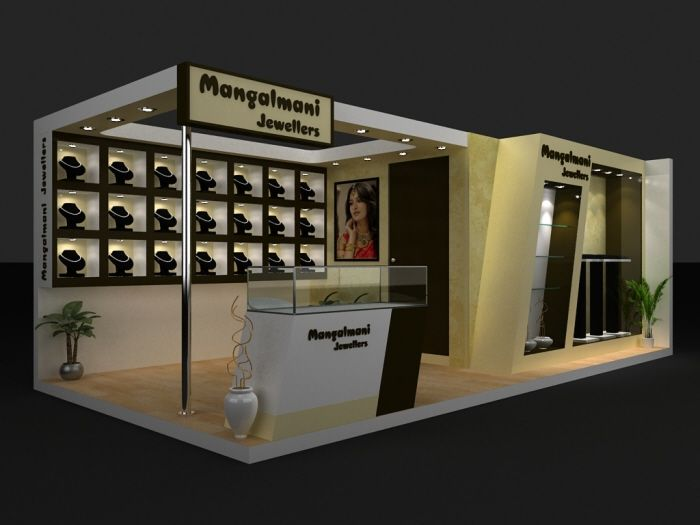 Stall Arrangement For Exhibition : Jewellery exhibition stall by vishal champanerkar at