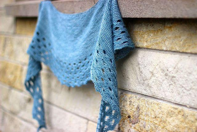 Truly Myrtle: How To Block A Crescent Shawl
