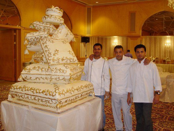 Royal wedding cakes from Kuwait