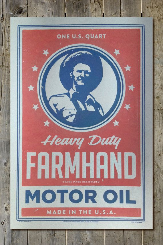 Vintage Petrol Retro Americana Farmers Heavy Duty By FarmhandCo 2499