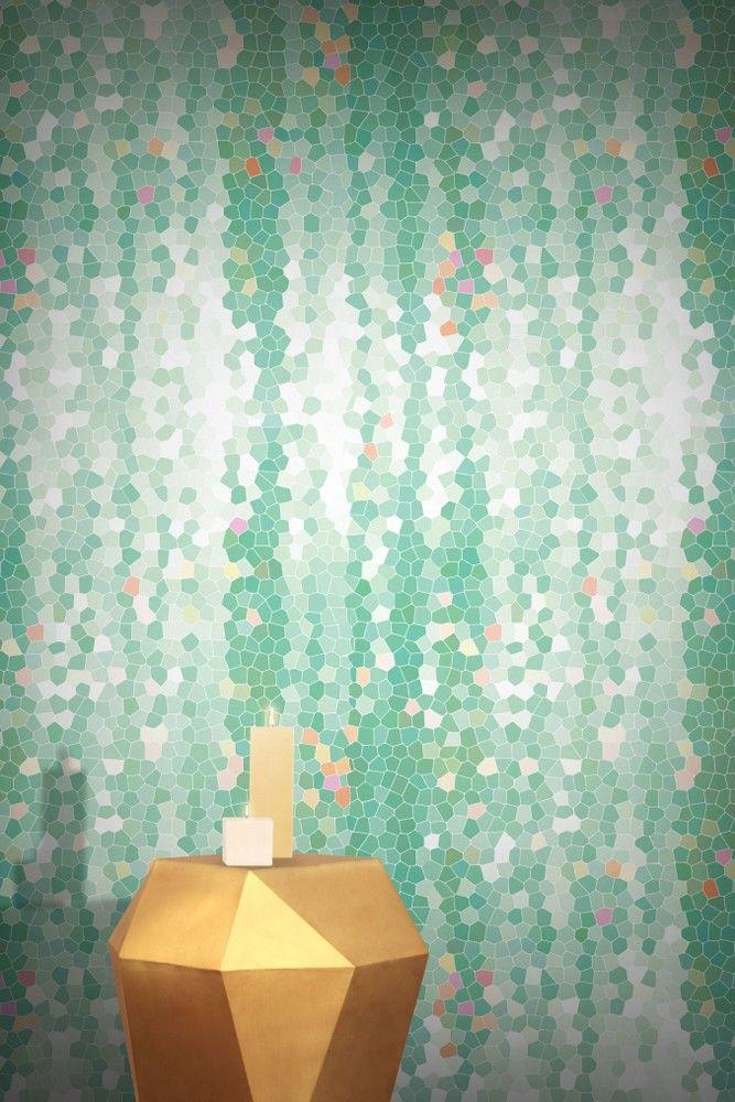 Feathr Wallpaper - Firefly - Mint - Wallpaper