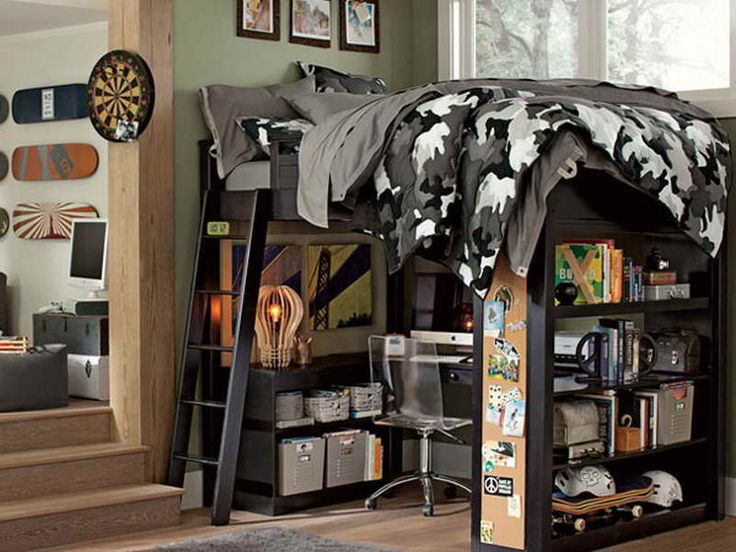 TEEN BOY LOFT BED IDEAS   Google Search · Boy Bedroom DesignsMale Bedroom  DesignKids ...