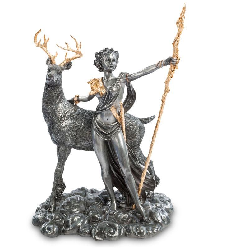 """Статуэтка """"Артемида - Богиня охоты"""" WS-10   Бренд: Veronese (Китай, о. Тайвань);      Страна производства: Китай;   Материал: полистоун;   Длина: 18,5 см;   Ширина: 14 см;   Высота: 26 см;   Вес: 1,35 кг;"""
