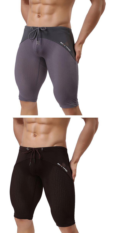 Sport Beach Swimming  Trunks for Men :  Breathable Mesh / Knee Length