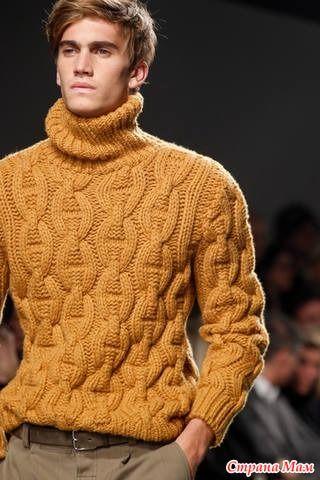 Начинаем вязать такой вот свитер. Я вяжу мальчику на год, позже буду вязать мужу - ему тоже приглянулся. Но сказал, чтобы узор был такой же крупный. Опрос был здесь Опрос в Стране Мам: Я влюбилась...