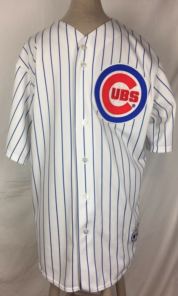 pretty nice 66da0 ae163 Majestic Chicago Cubs Jersey #38 Zambrano White Blue Stripe ...