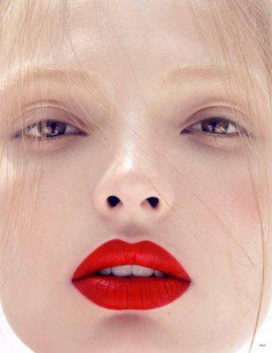 red lips, trying to find that perfect red is hard work