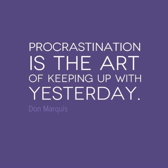 how to stop being a perfectionist procrastinator