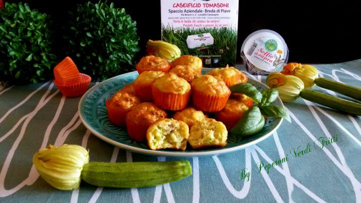 muffin ricotta zucchine tonno