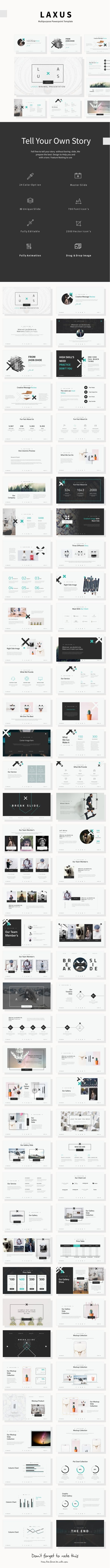 Laxus Multipurpose Theme — Powerpoint PPTX #chart #theme • Download ➝ https://graphicriver.net/item/laxus-multipurpose-theme/19244172?ref=pxcr