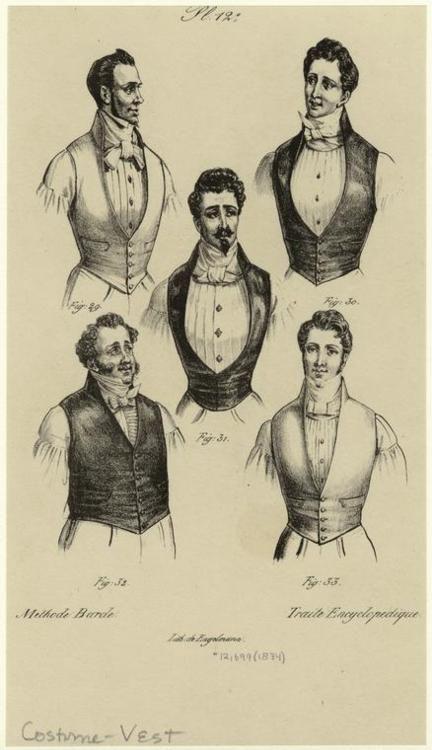 Men in Vests and Neckties 1834