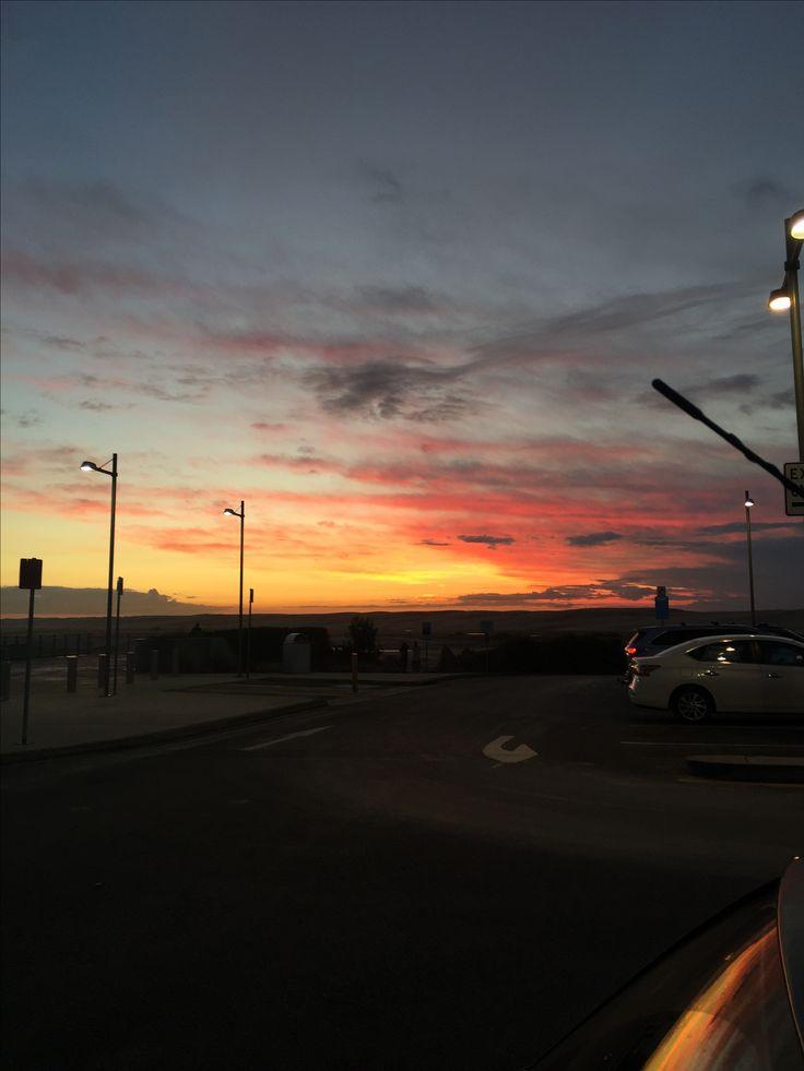 Sun set looking towards Newcastle from Anna Bay end of Stockton Beach