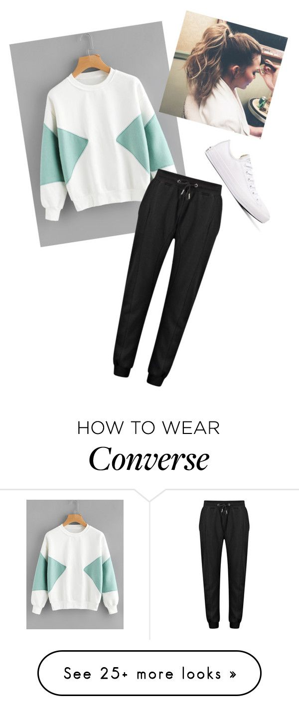 """""""Lazy but Cute"""" by lover-of-tea on Polyvore featuring Converse"""