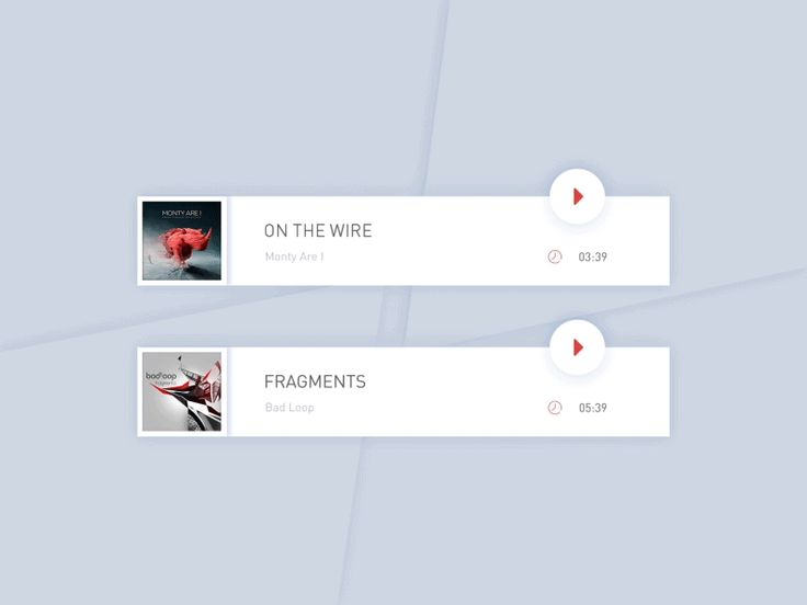 A or B? Bottom music player dashboard. by Leo Leung