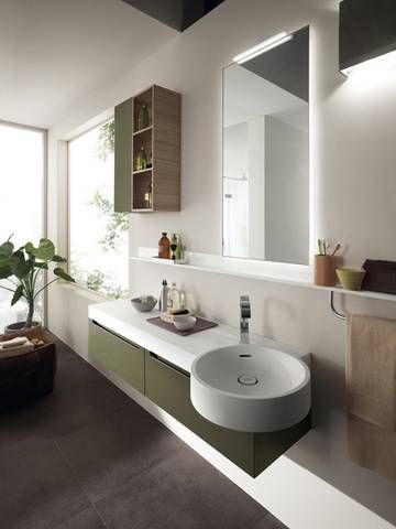 #Scavolini Bathrooms: a colorful #bathroom and a living show