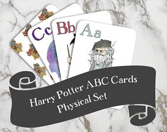 Harry Potter ABCs | Physical Set | Nerdy Baby Gift | Kindergarten | Harry Potter Baby | Alphabet Flashcards