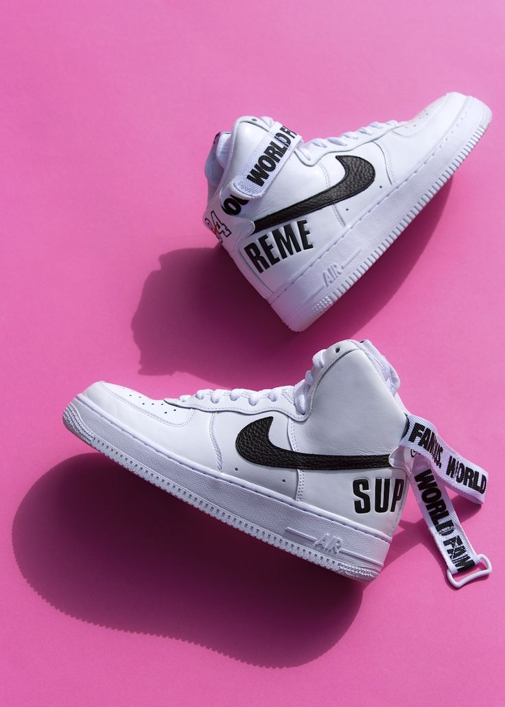 Supreme_Nike_AirForceOne_High    Like this pin? For more follow me on ❥♚ Pinterest @glizzy2x❤️