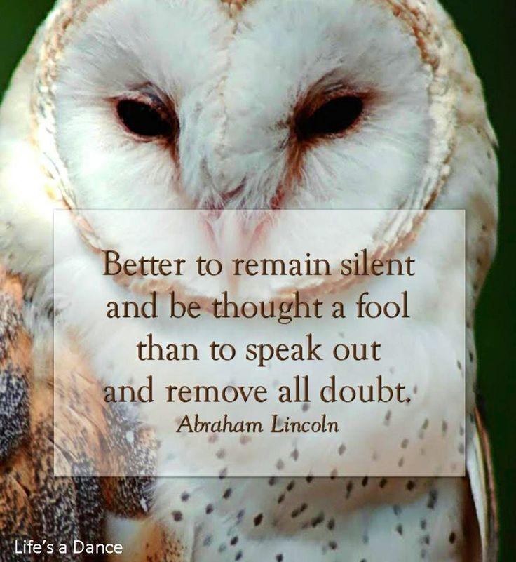 Owl quote via Life's a Dance at www.facebook.com/lifesadanse