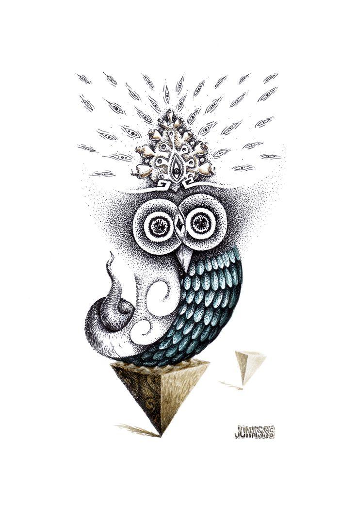 Búho // Owl #creatures #jonassco #illustration #ink