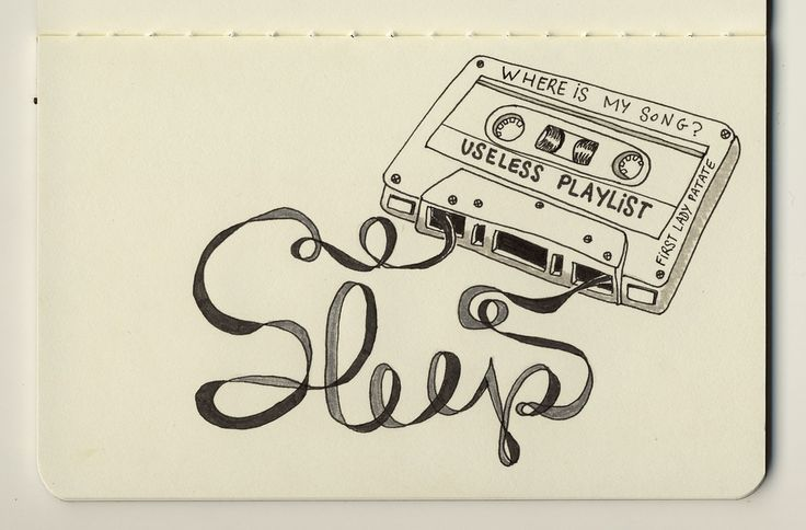 gorgeous moleskine illustrations by firstladypatate #illustrations #firstladypatate #tape #playlist #sleep #typographyMoleskine Illustration, Je Dors, Firstladypat Photostream, Sleep Quotes, Art, Notebooks, Tape, Sketchbooks Ideas, Typography