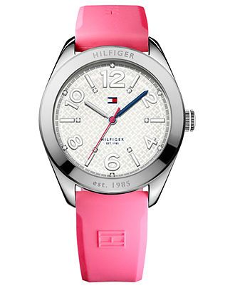 Tommy Hilfiger Watch, Women's Pink Silicone Strap 40mm 1781256 - All Watches - Jewelry & Watches - Macy's