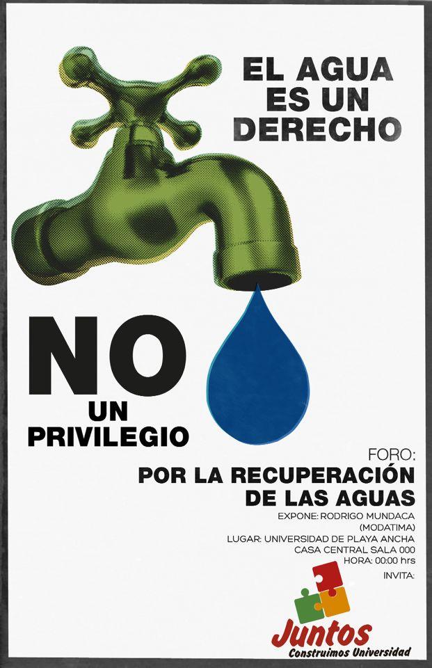 La guerra del agua #agua #poster #war #chile #corrupt [PROTOTIPO]