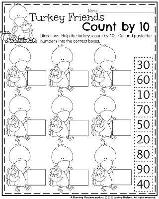 Fall Kindergarten Worksheets for November | Kindergarten ...