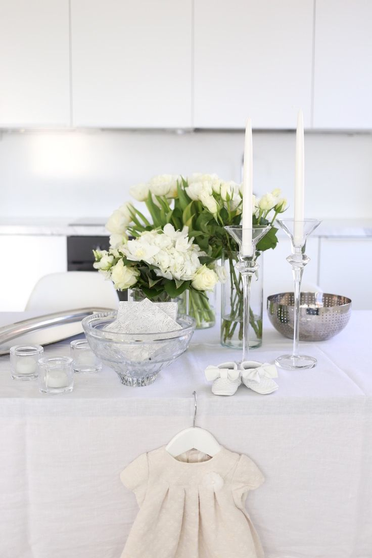 Homevialaura | white christening decorations | Alessi | Iittala Kivi | Mayoral baby dress | For minies and mommies baby moccasins
