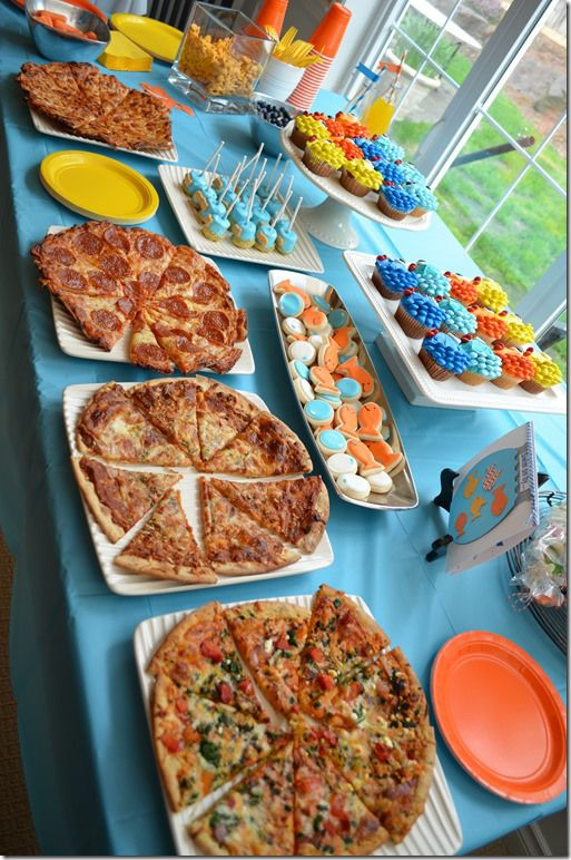 Fish Birthday Party - Food & Dessert Table