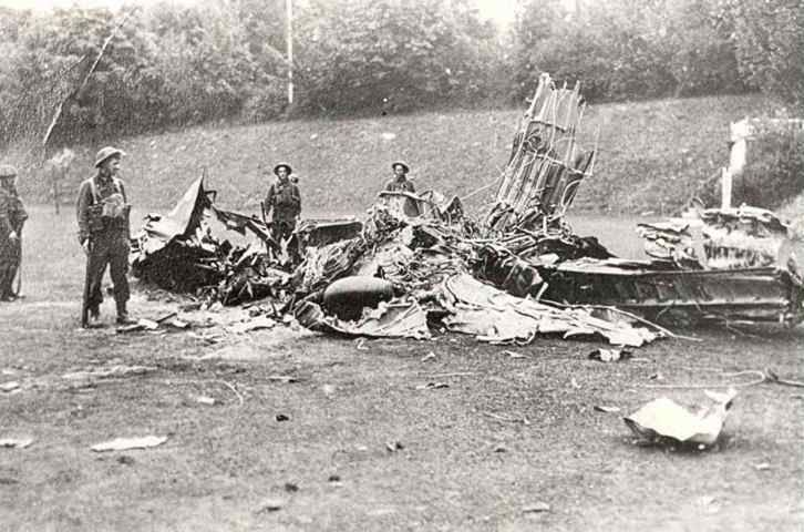 The first aircraft brought down in the County Borough of Eastbourne was Me 110C-2 A2+GL of 6/ZG2 that crashed at Meads at 17.30 on 16 August 1940. Engaged over the South Downs, almost certainly claimed by F/O Harold NE Salmon of No 1 Squadron RAF, the bulk crashed on Aldro School, while the nose fell onto the Royal Eastbourne golf course. Hptm Ernst Hollekamp died when bailing out and falling on Hill Brow School, while Fw Richard Schurk came down in the sea off Holywell and was drowned.
