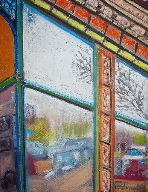 """This is a pastel on paper.  I call it """"Gallery Reflection"""""""
