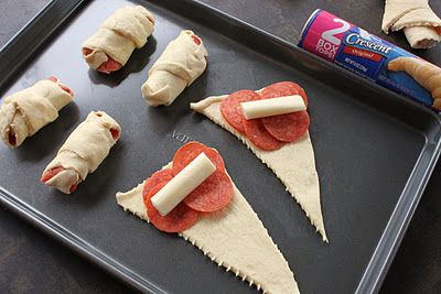 Crescent Pepporoni Roll Ups- fun project for kids