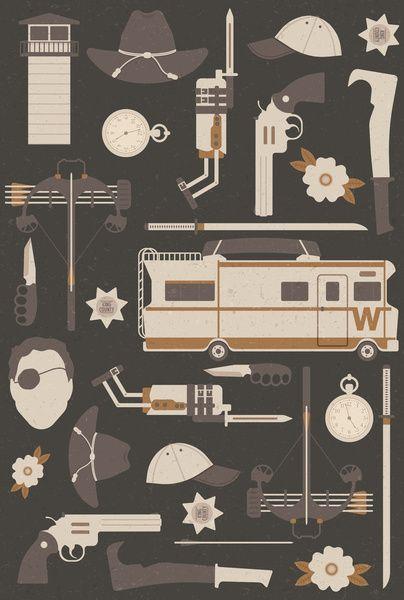 The Walking Dead Art Print by Tracie Andrews #walkingdead #fanart #poster ; )