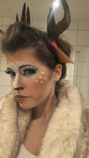 Fawn make up and how to make antlers out of cardboard
