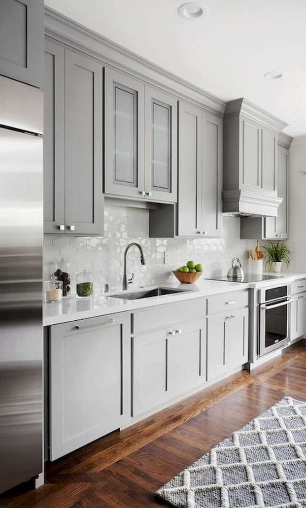 61 New Trend Colorful Kitchen Decorating Ideas For 2020 Part 38 61 New Trend Colorful In 2020 Grey Kitchen Designs Kitchen Renovation Home Decor Kitchen