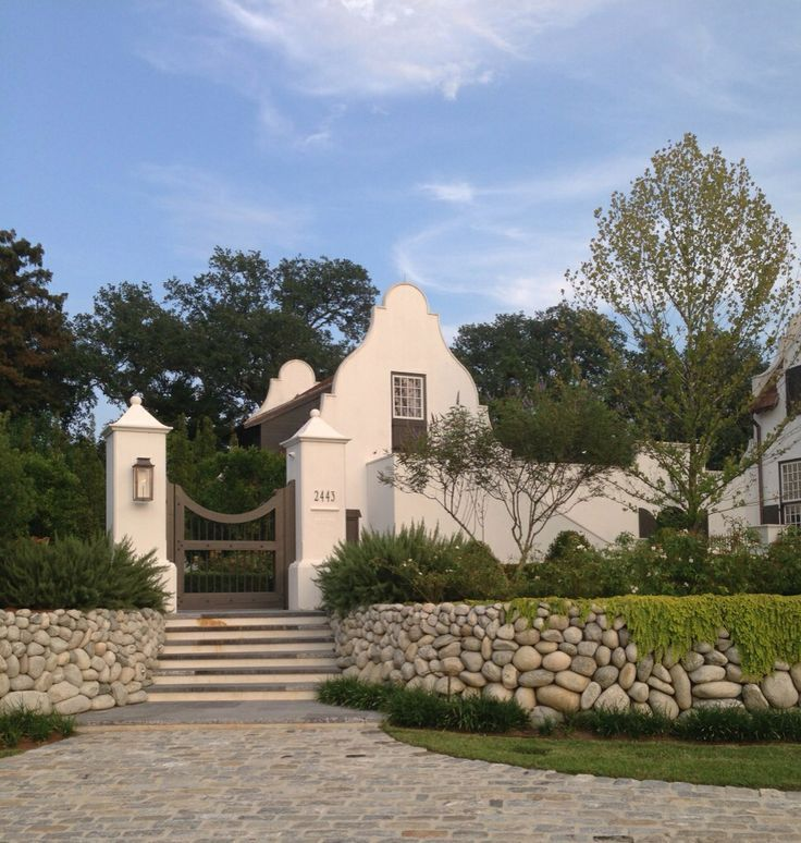 entrance to a cape dutch property by mcalpine tankersley