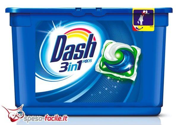 DASH ECODOSI PODS REGOLARE 3IN1 36PZ Le Dash PODS 3in1 sono l'ultima innovazione in casa Dash. Il primo detersivo dove tre componenti uniscono le forze per lavare, rimuovere le macchie e donare ...