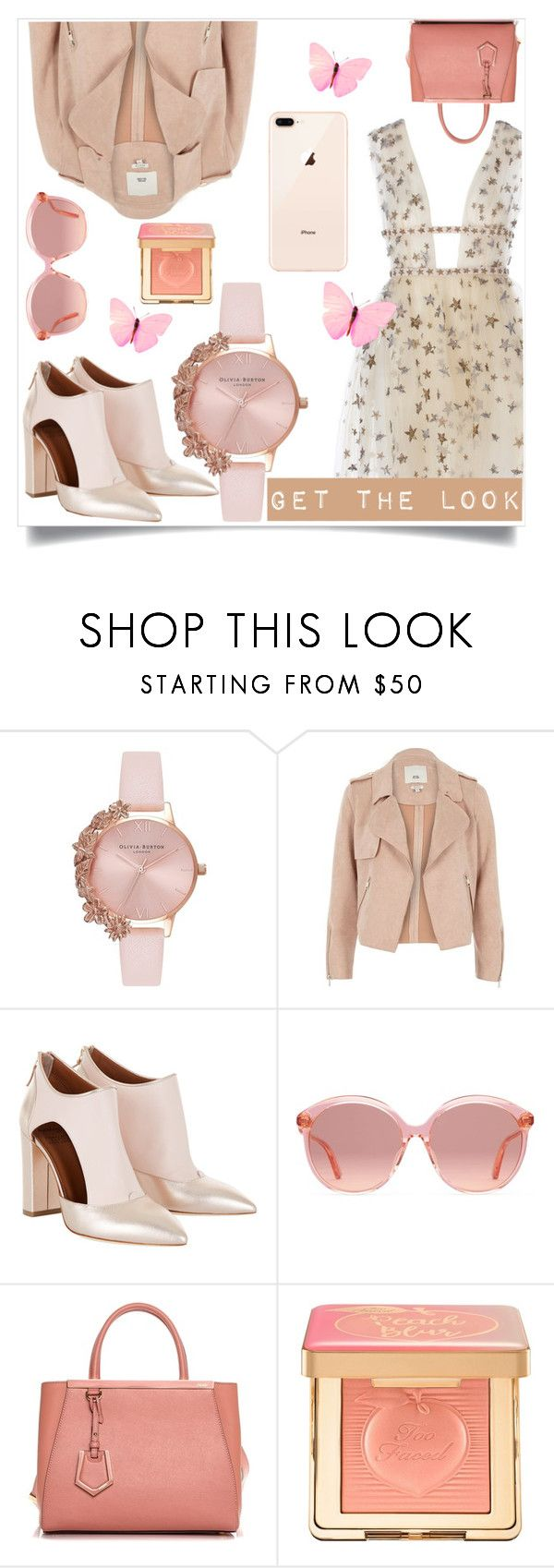 """Love"" by ana-lipstick ❤ liked on Polyvore featuring Olivia Burton, River Island, Gucci, Fendi and Too Faced Cosmetics"