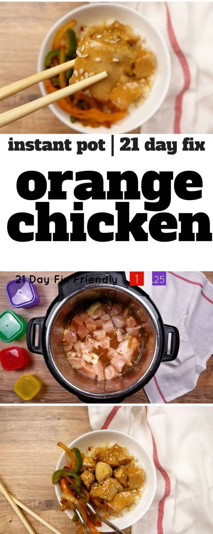 Get your chinese food fix with this instant pot orange chicken get your chinese food fix with this instant pot orange chicken recipe 21 day fix orange chicken with container counts good healthy meals 21 day fix forumfinder Gallery