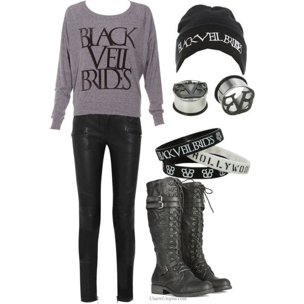 """Black veil brides outfit"" by geekynerd2 on Polyvore I made this on polyvore!!"