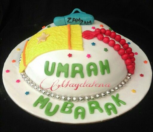 Umrah Mubarak cake for online order visit our website delivery available in Mumbai www.Magdalenacupcakes.com