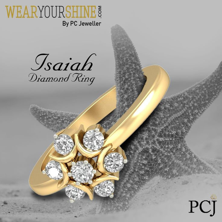 "Surprise her with ring that will celebrate the love you share forever with ""The Isaiah Diamond Ring.""  #WearYourShine #Love #Happiness #IndianJewellery #PCJeweller #Fashion #Trends #Rings  #DiamondJewellery"