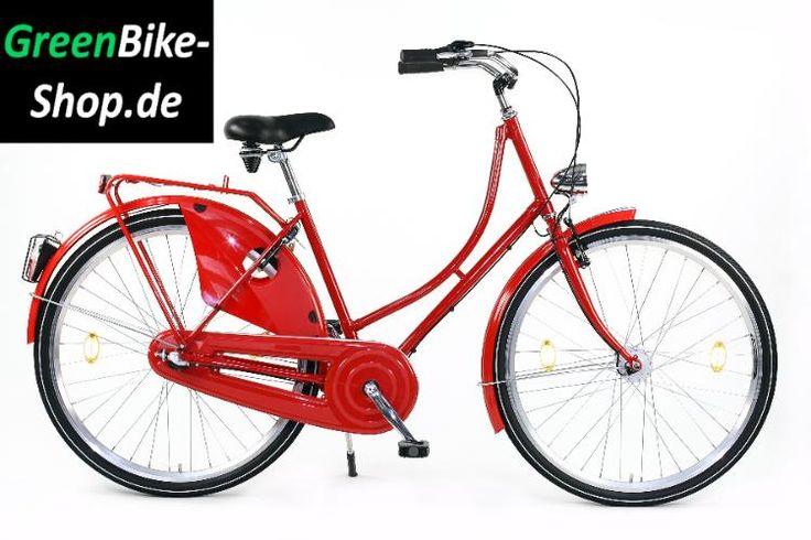 Damen Hollandrad Hollandfahrrad Cityrad Nostalgierad Retro Fahrrad 3 Gang 28 Zoll rot