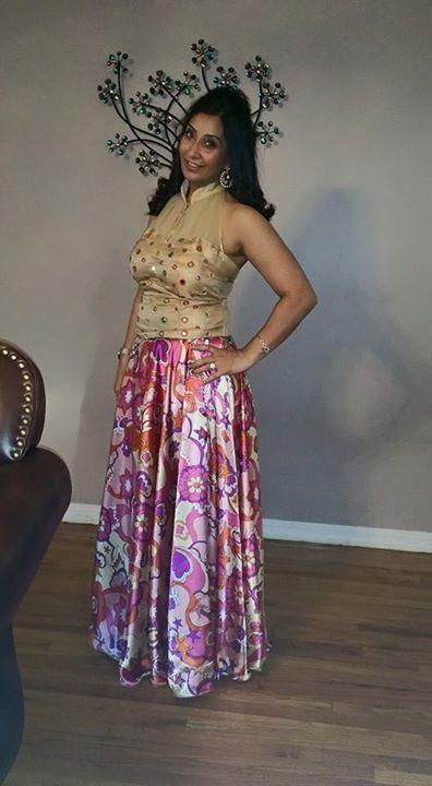 #croptop #indianwear #indowestern #fusion #mirrorwork #customorder #happyclient #blouse #lehenga #skirt