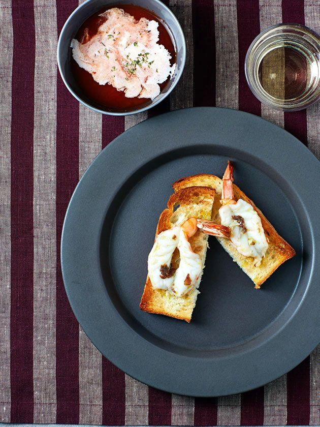 海老トースト/盛り付けに一工夫しておしゃれに仕上げて #レシピ #elleatable