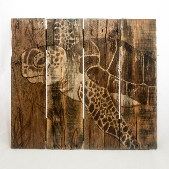Sea turtle Decor Beach art Sea turtle Painting by SimplyPallets