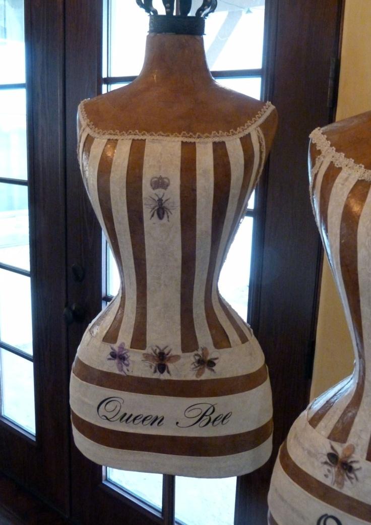 Vintage Inspired Dress Form Mannequin Queen Bee