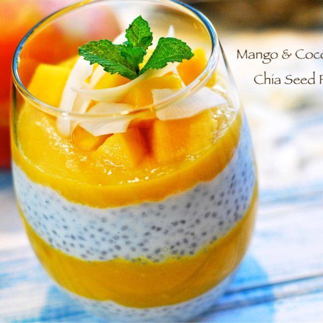 芒果奇亞籽椰奶優格