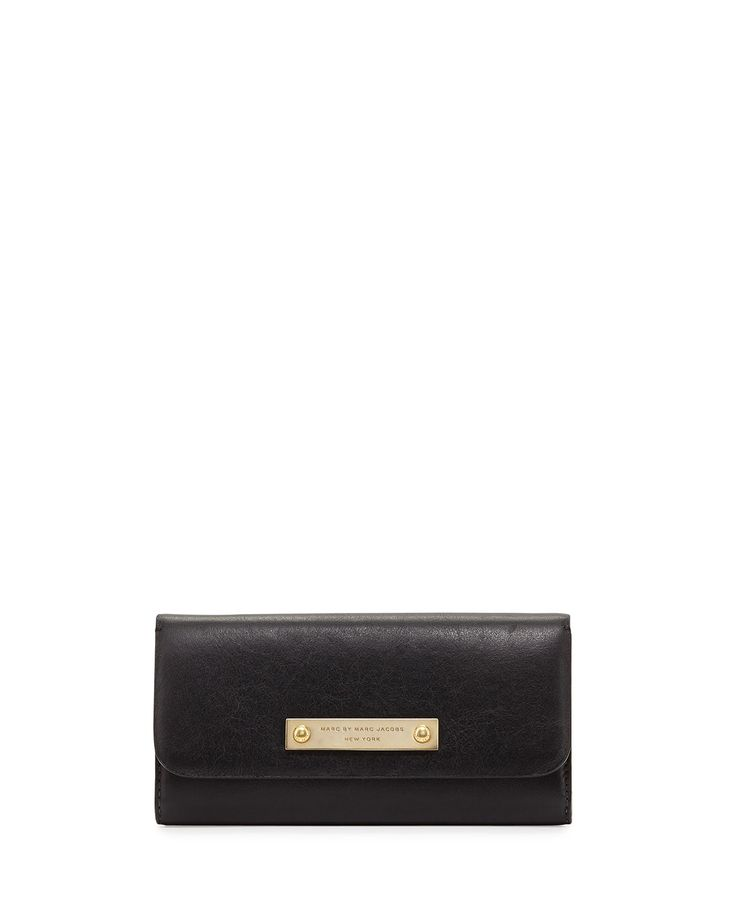Marc By Marc Jacobs Goodbye Columbus Continental Wallet Black in Black