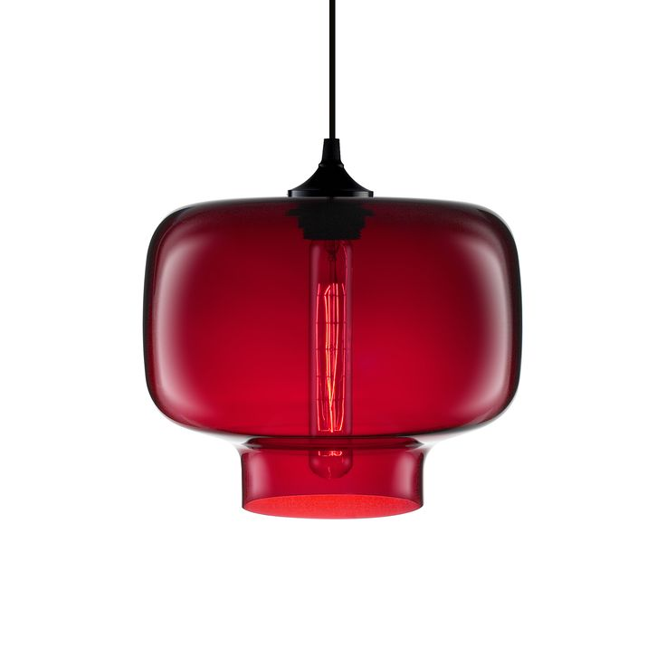 Modern Red Pendant Lighting : Best images about crimson niche pendants on